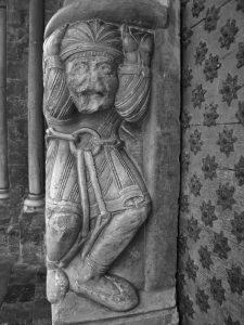 Atlante figure, right side, Ste Marie.