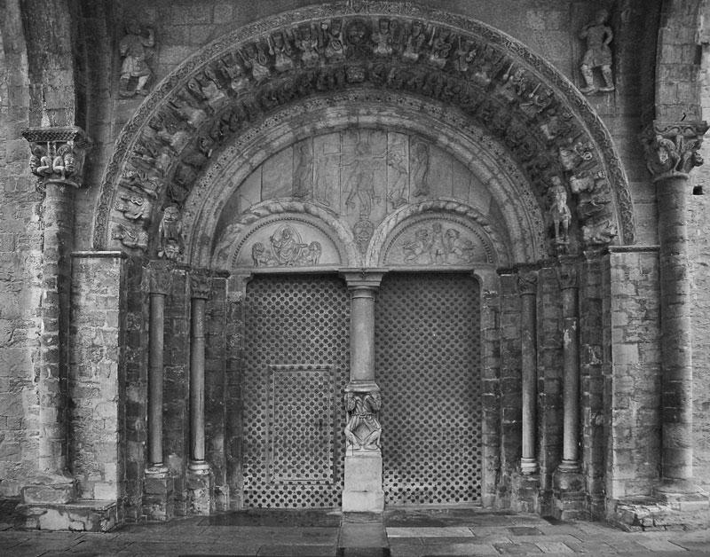 Romanesque portico of the Eglise Ste Marie, Oloron-Ste Marie, France
