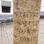 Roman milestone in Aldanueva, Extremadura.