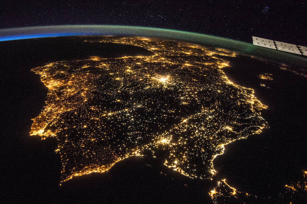 Iberian peninsula from the international space station - photo courtesy NASA